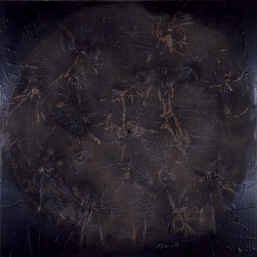 Philolaus Game, 1989, mixed media on canvas, 180x180cm