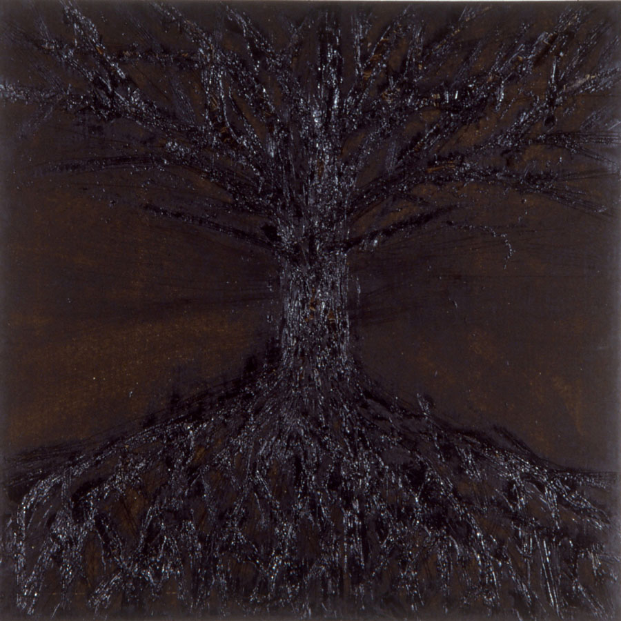 Tree, 1991, mixed media on sheet iron and  metal,180x180cm