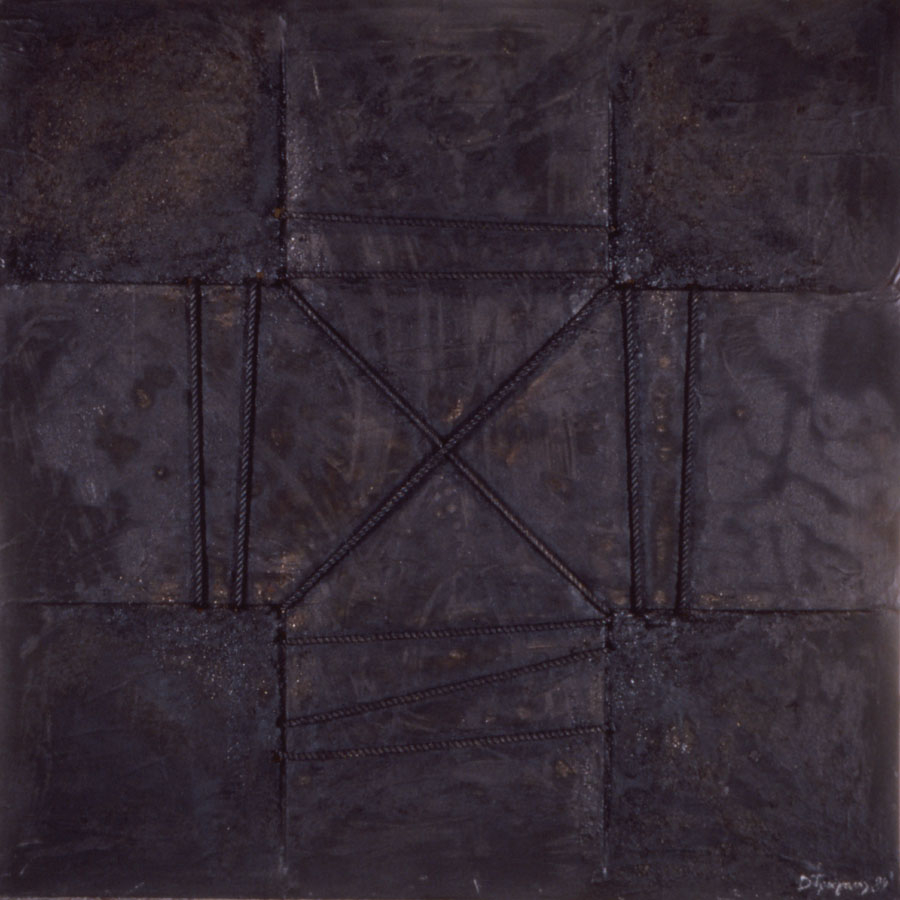 the Bound Cross, 1989, mixed media on canvas, 180x180cm