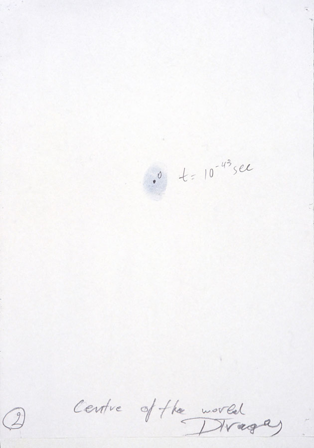 Centre of the World 1997, pencil on paper, 550x550x550cm