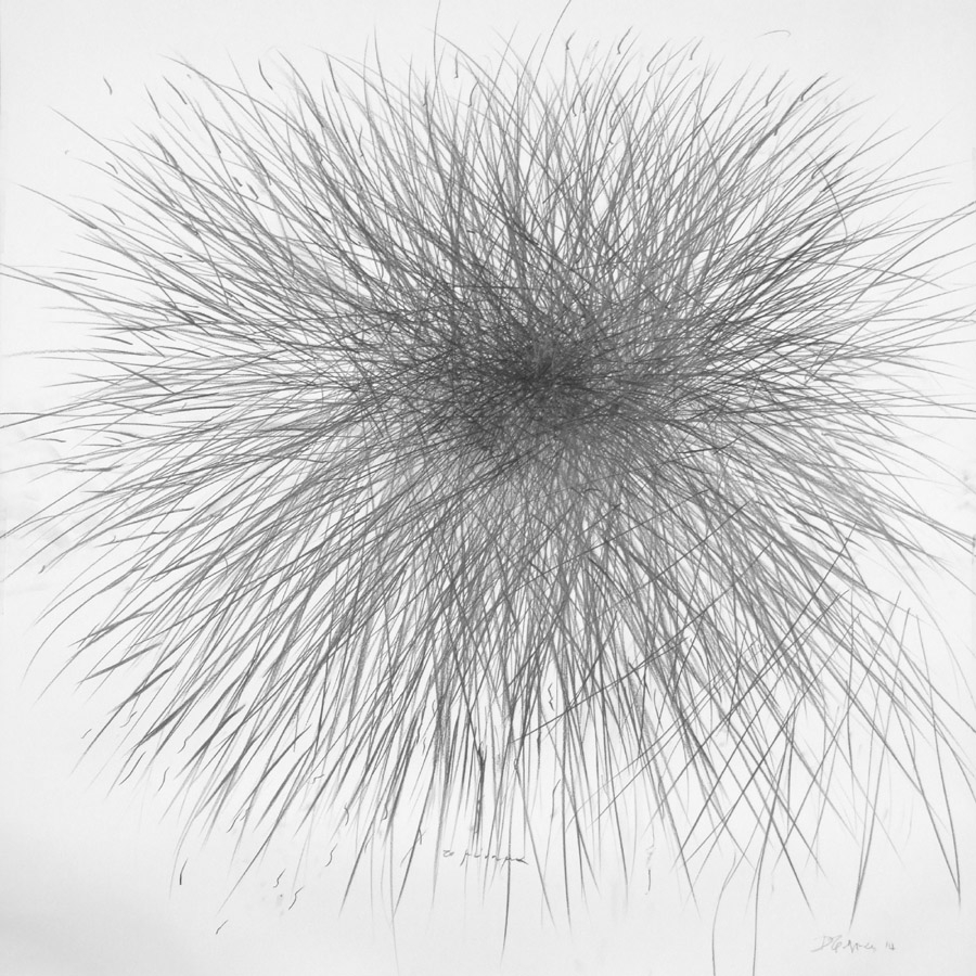 the message 2014 graphite on paper 150x150cm